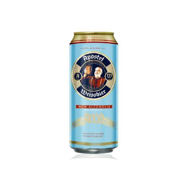 【德國】Apostel Weissbier小麥啤酒風味飲(無酒精啤酒)500ml-全素