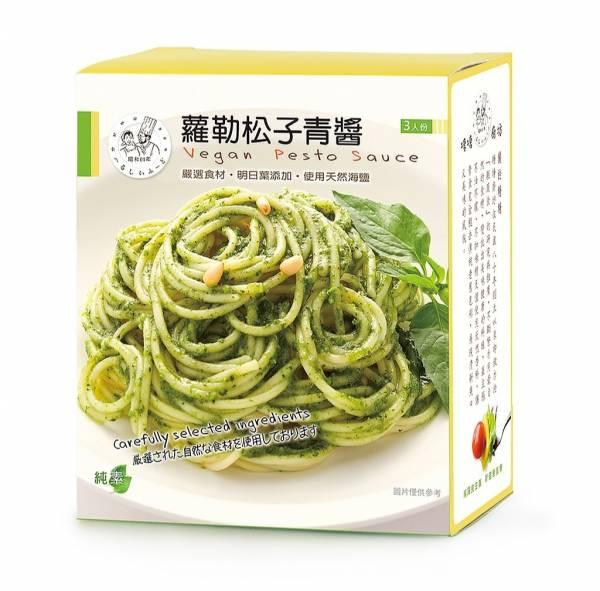 塘塘廚坊羅勒松子青醬150g*3入-全素
