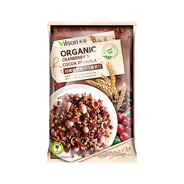 米森有機蔓越莓可可脆麥片45g-全素