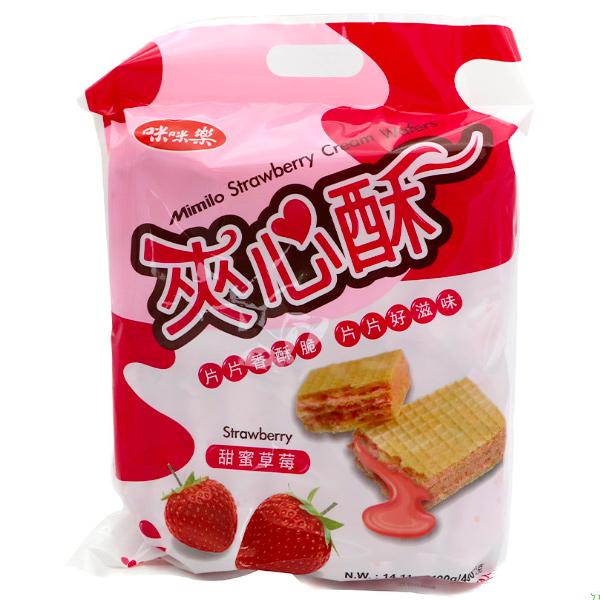 咪咪樂草莓夾心酥400g-全素
