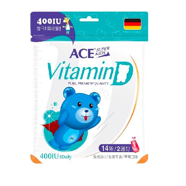 ACE SUPER KIDS維他命D軟糖-全素