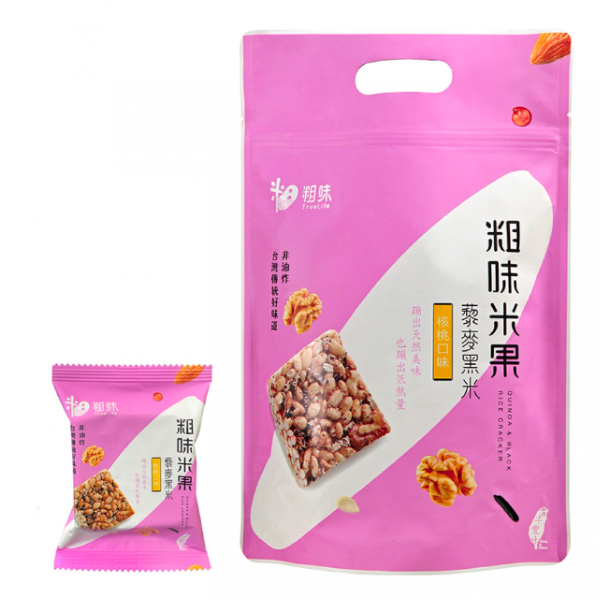 粗味米果藜麥黑米(核桃口味)7入-全素