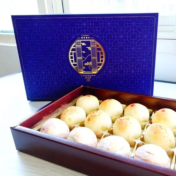 嬉皮素食小月餅禮盒12入-全素 月餅,新豬肉,Omnipork
