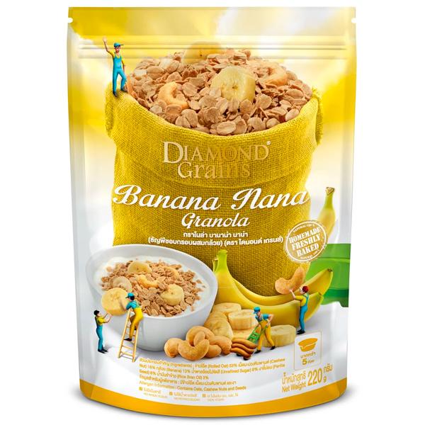 鑽石燕麥穀脆片芭娜娜口味-全素