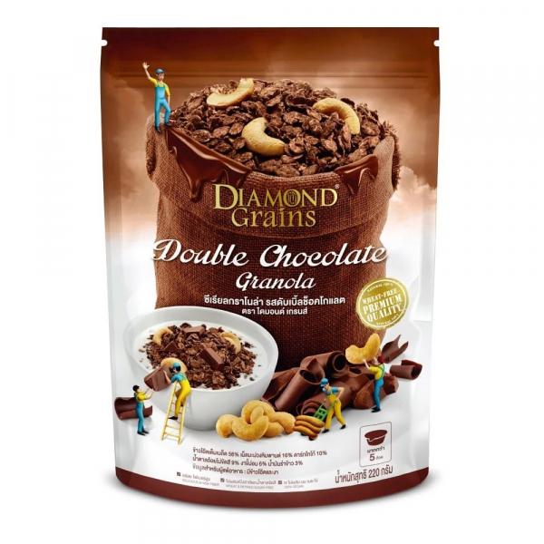 鑽石燕麥穀脆片雙倍巧克力-全素