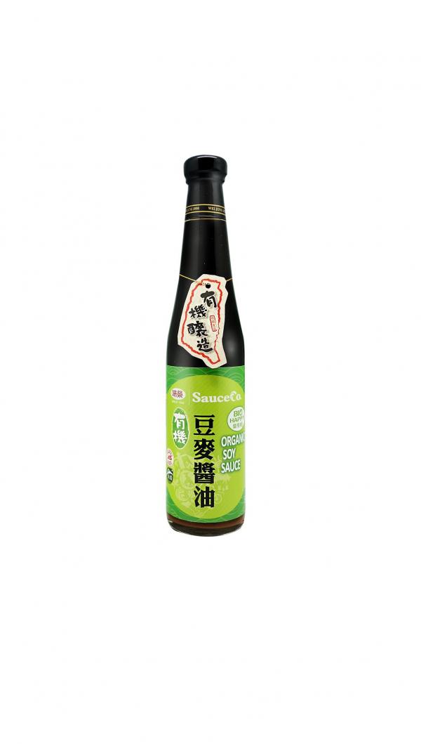 味榮有機豆麥醬油420ml-全素