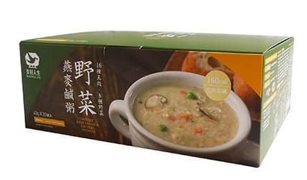 美好人生高鈣天然即時燕麥鹹粥-野菜40g*20包-奶素