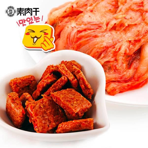 救世韓式辣醬泡菜素燒肉塊100G-全素