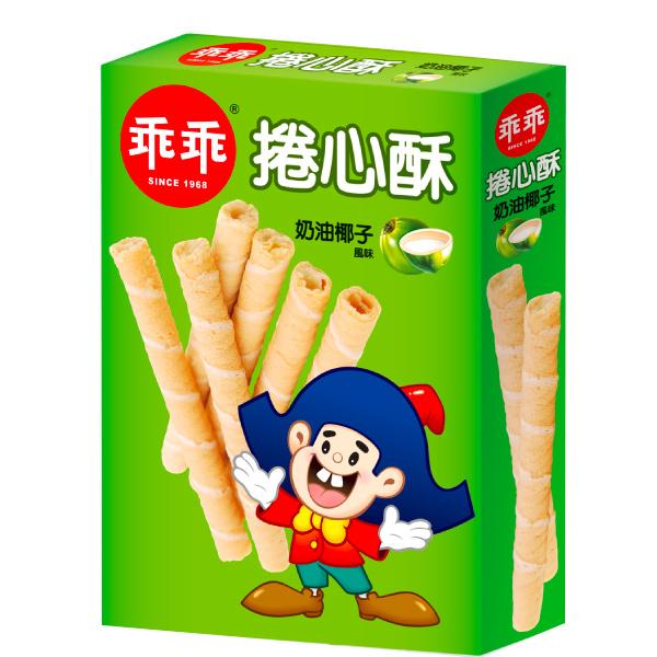 乖乖捲心酥(奶油椰子風味)150g-奶蛋素