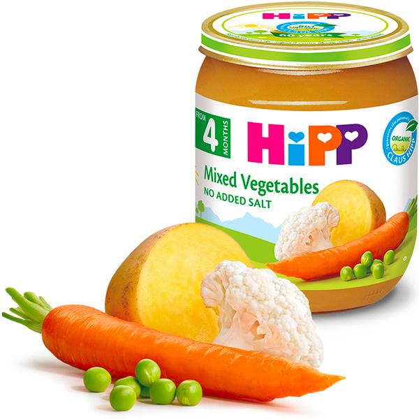 HiPP喜寶有機綜合蔬菜泥125g-全素