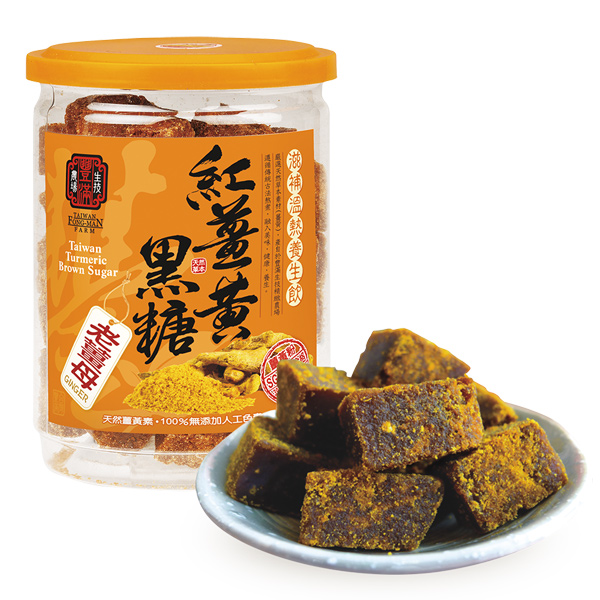 豐滿生技手工紅薑黃黑糖(老薑母)-全素