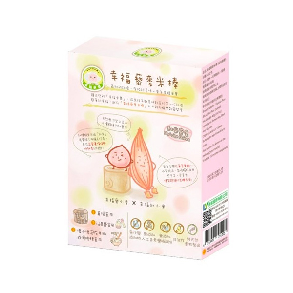 幸福米寶藜麥米棒(紅米藜麥40g)-全素