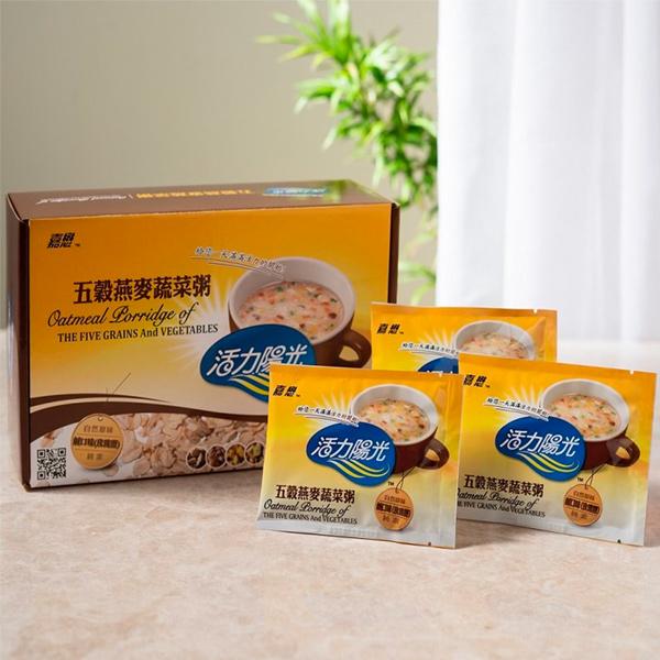 嘉懋五穀燕麥蔬菜粥(20包)-全素