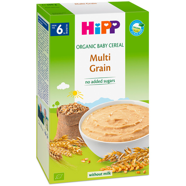 HiPP喜寶有機寶寶綜合黃金穀物精200g-全素