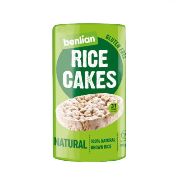 benlian原味無鹽糙米餅100g-全素