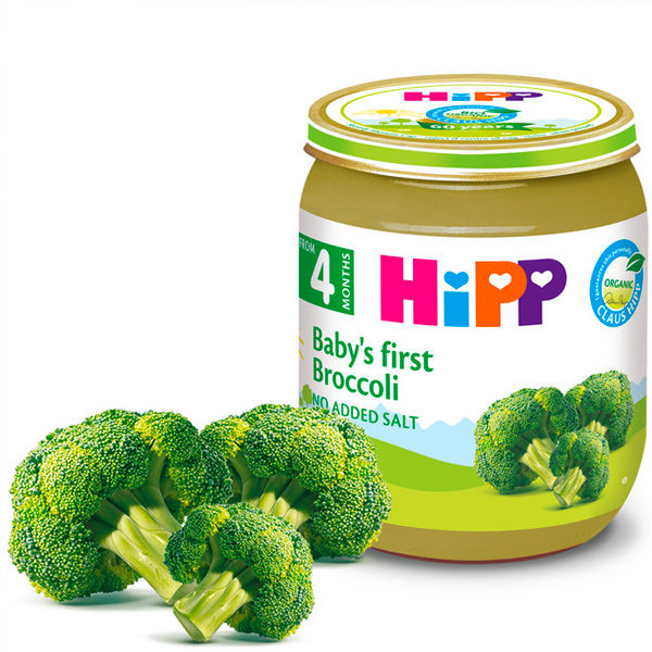 HiPP喜寶有機綠花椰菜泥125g-全素