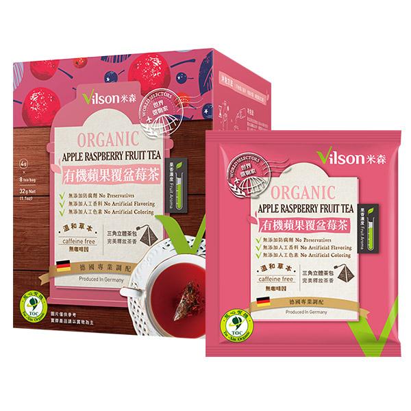 米森有機蘋果覆盆莓茶/4g*8包-全素
