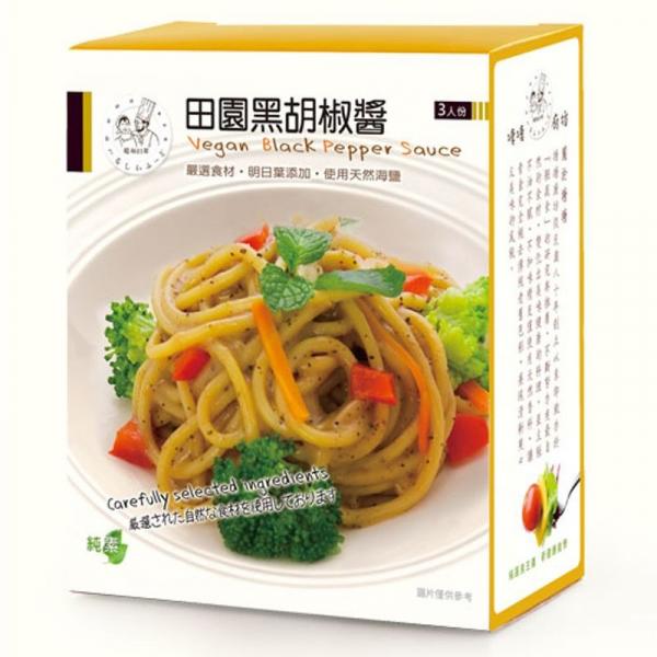 塘塘廚坊田園黑胡椒醬150g*3入-全素