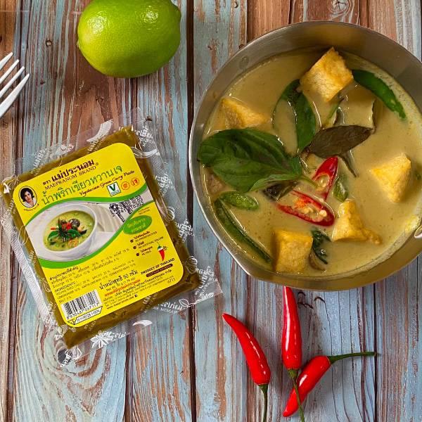 MAEPRANOM泰國素食綠咖哩醬50g-全素