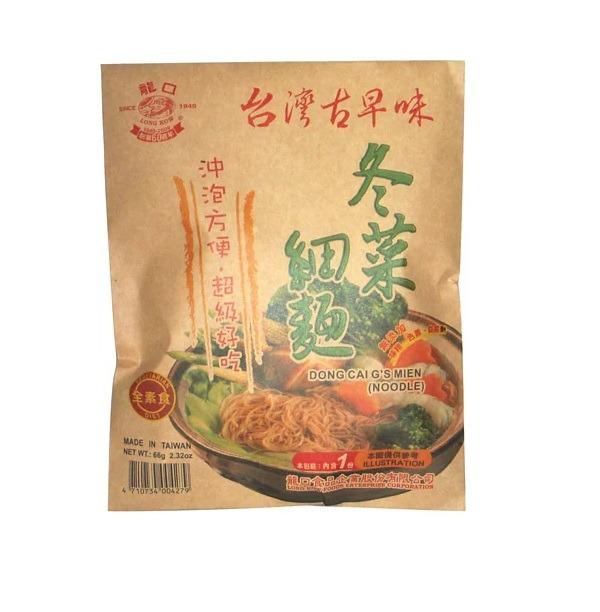龍口冬菜細麵66g-全素
