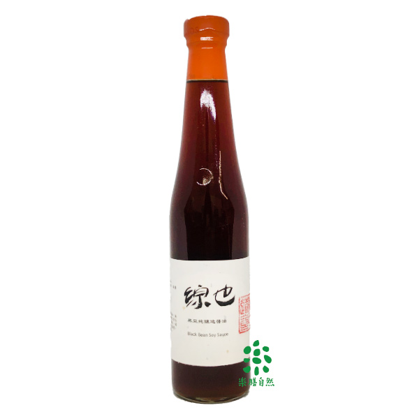 綜也宜家宜室純釀造黑豆醬油420ml-全素