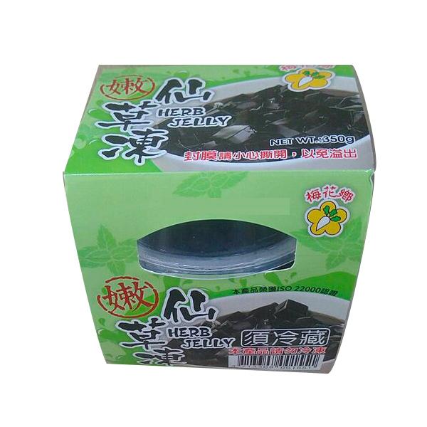 梅花鄉嫩仙草果凍350g-全素