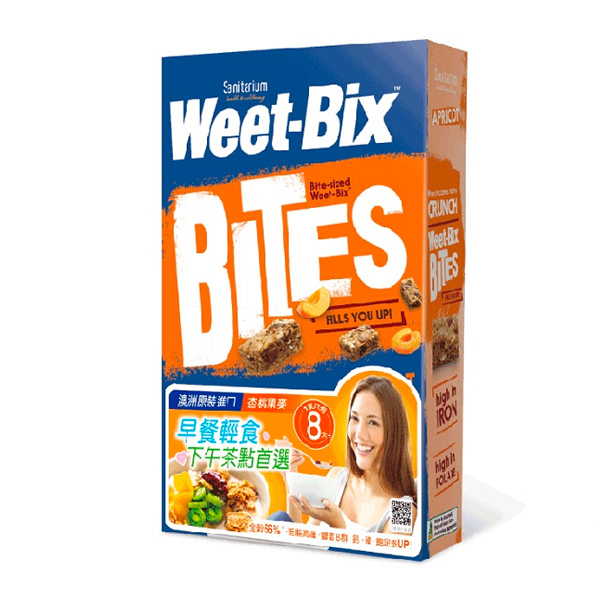 Weet-bix澳洲全穀片Mini(杏桃)500g-全素