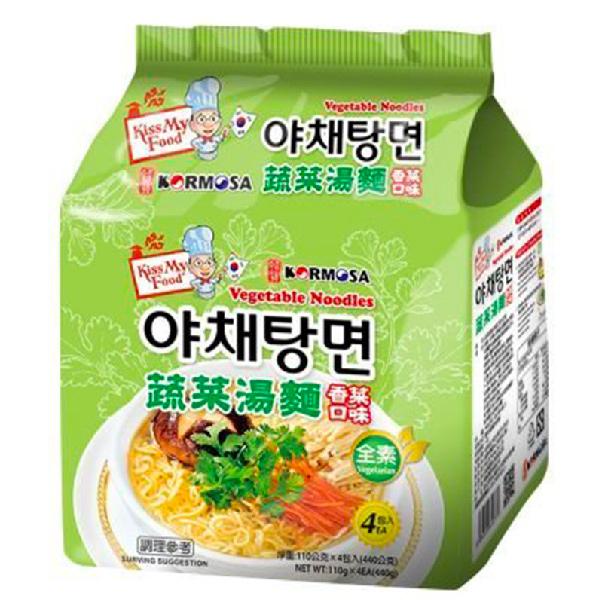 Kormosa蔬菜拉麵香菜口味4入-全素