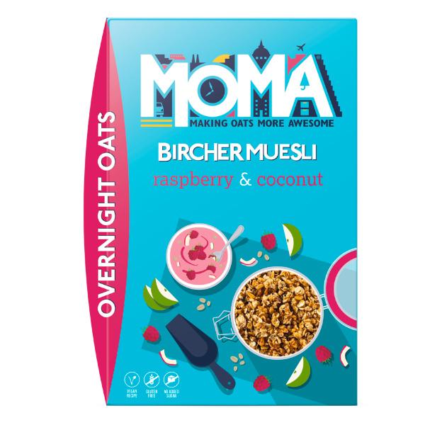 Moma覆盆莓椰片燕麥片400g-全素