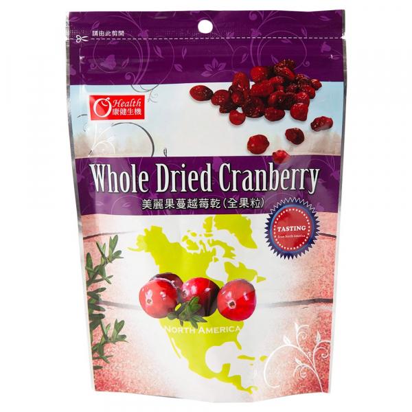 康健生機美麗果蔓越莓乾(全果粒)200g-全素