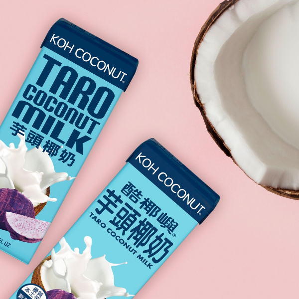 KOH COCONUT酷椰嶼芋頭椰奶200ml*6入-全素