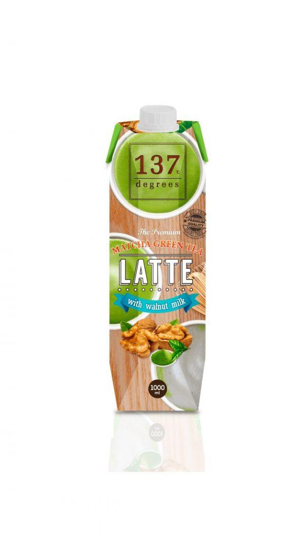 137degrees抹茶核桃堅果奶1000ml-全素