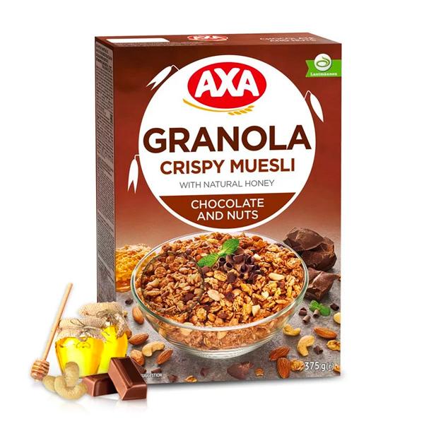 瑞典AXA巧克力堅果穀物麥片375g-全素