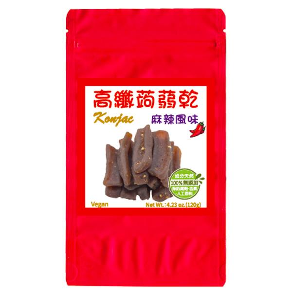 亨源高纖蒟蒻乾120g-麻辣風味-全素