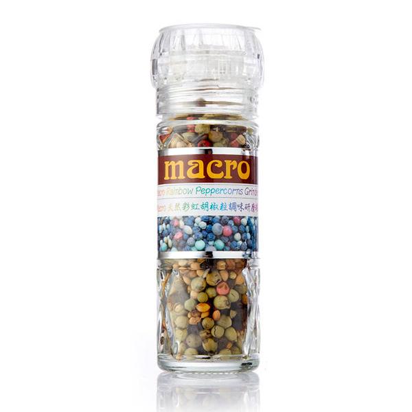 Macro天然彩虹胡椒粒調味研磨罐-35g-全素