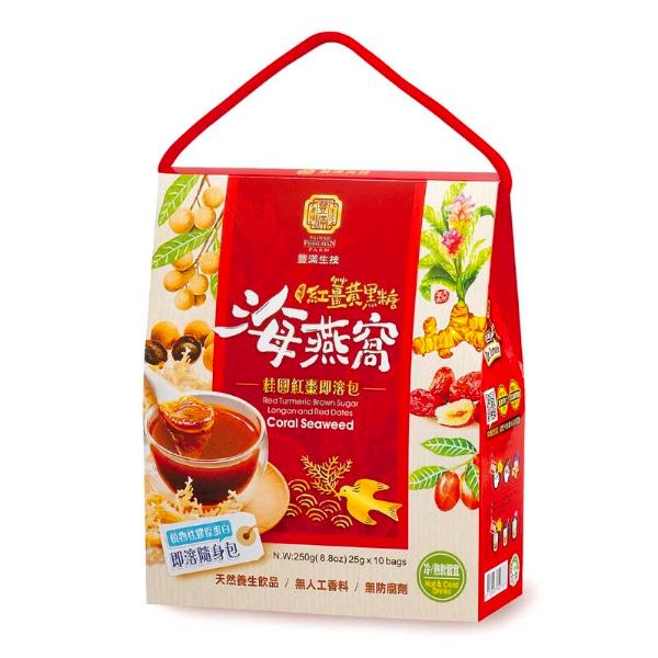 豐滿生技紅薑黃黑糖海燕窩/桂圓紅棗(即溶包)-全素