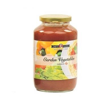 美味大師義大利麵醬田園蔬菜-全素
