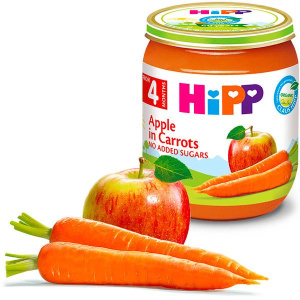 HiPP喜寶有機胡蘿蔔蘋果泥125g-全素