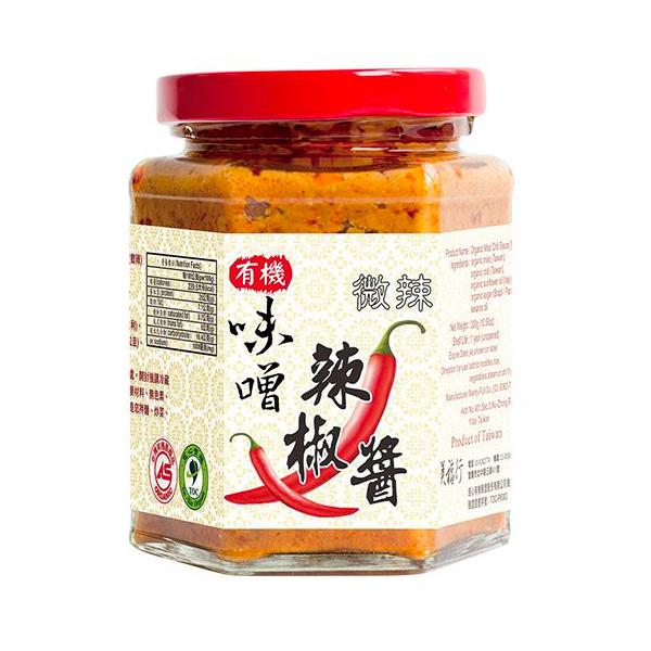 美福行有機味噌辣椒醬(小辣)-全素