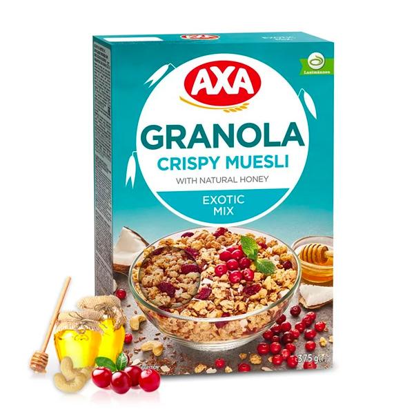 瑞典AXA亞麻籽莓果穀物麥片375g-全素