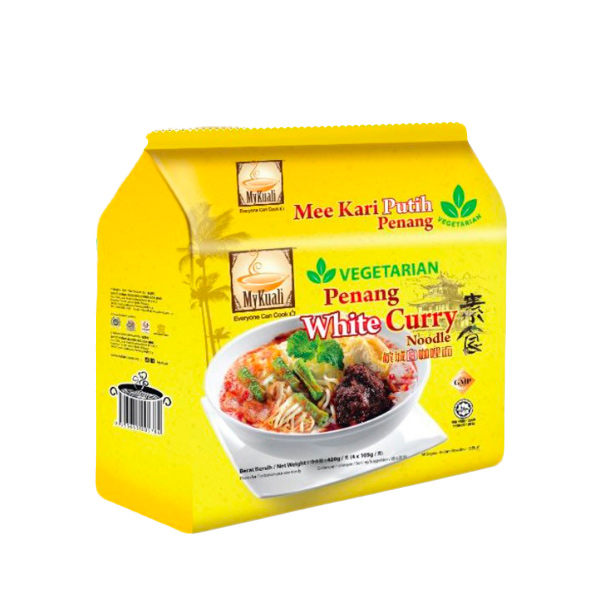Mykuali檳城素食白咖哩湯麵4入-全素