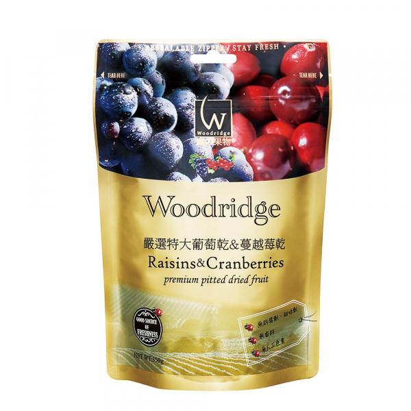 森の果物嚴選葡萄乾+蔓越莓乾-全素