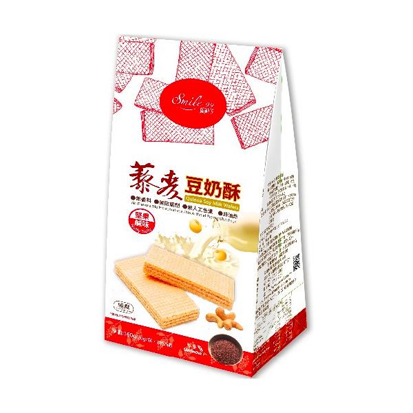 Smile99藜麥豆奶酥(堅果鹹味)160g-全素