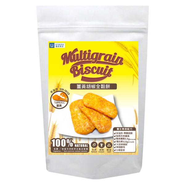 優穀美身薑黃胡椒全穀餅60g-全素