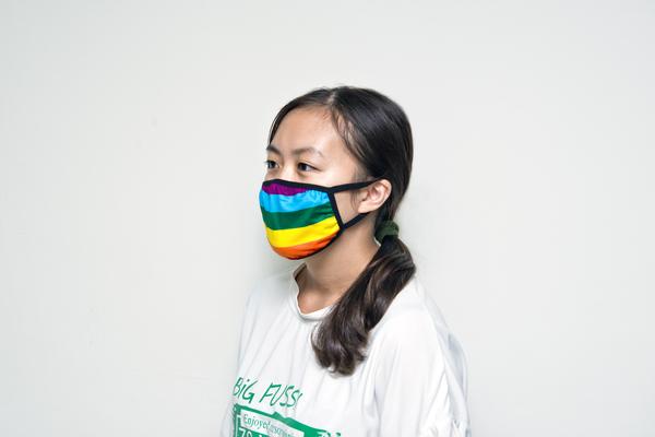 彩虹布口罩