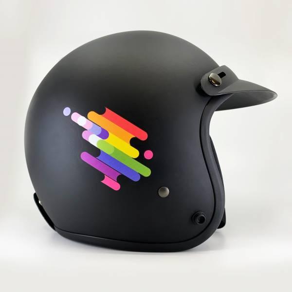 彩虹安全全貌帽 安全帽