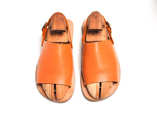 NICE 尼斯 植鞣皮綁帶拖鞋 焦糖色 Size 6