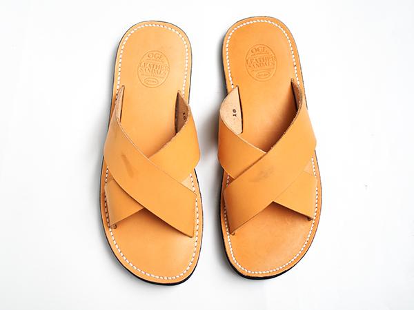 Dr.Sole x OGL 天然牛皮交叉拖鞋 US 10