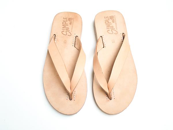 NAHA 那霸 天然牛皮夾腳拖鞋 Size5