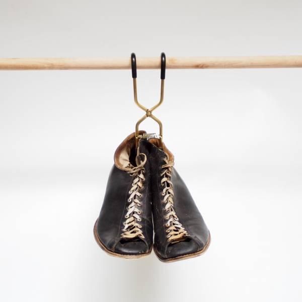 日本製 黃銅 Boots Hanger (一入) 靴子收納,夾靴器,靴子發霉